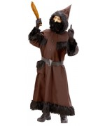Costume Père Fouettard avec robe à capuche et ceinture - déguisement Saint Nicolas