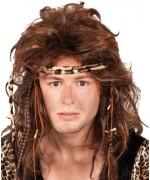 Perruque préhistorique pour homme de cro magnon ou femme des cavernes