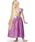 Perruque princesse Raiponce pour enfant, longue perruque blonde phosphorescente d'environ 80 cm