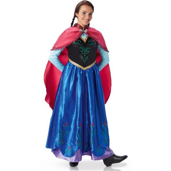d guisement anna adulte reine des neiges la magie du deguisement princesses disney et dessins. Black Bedroom Furniture Sets. Home Design Ideas