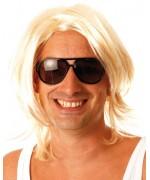 Perruque blonde pour homme, déguisement Brice de Nice le célèbre surfeur de la serie TV