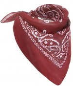 Bandana de cowboy rouge en tissu - accessoire western