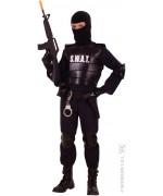 Déguisement d'agent du commando SWAT ou FBI pour garçon de 5 à 13 ans