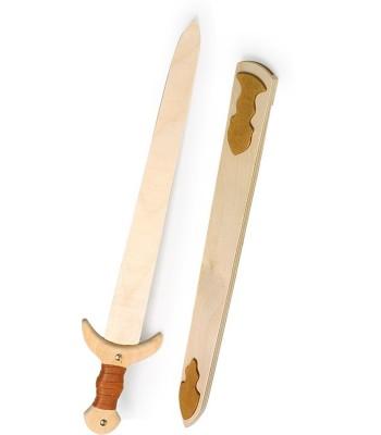 Épée de chevalier en bois