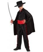 Déguisement de justicier masqué pour enfant, digne du célèbre Zorro avec cape et masque