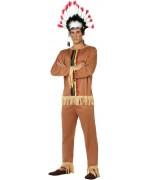 deguisement indien homme avec tunique et pantalon - déguisements western adultes