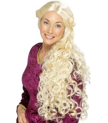 Longue perruque blonde renaissance