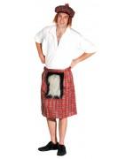 Set écossais pour adulte avec kilt écossais et chapeau