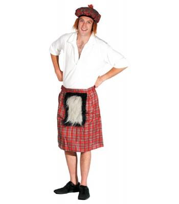 Kit écossais avec kilt et chapeau