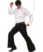 Pantalon patte d'éléphant noir pour homme taille M/L - déguisement disco