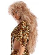 Perruque femme des cavernes luxe blonde, la coiffe de cro magnon