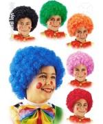 Perruque de clown pour enfant disponible en 6 couleurs pour les filles et les garçons - LA006A