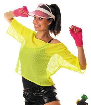 T-shirt fluo jaune femme