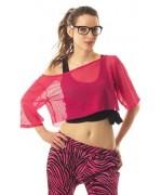 Déguisement fluo pour femme, t-shirt rose fluo (taille unique)