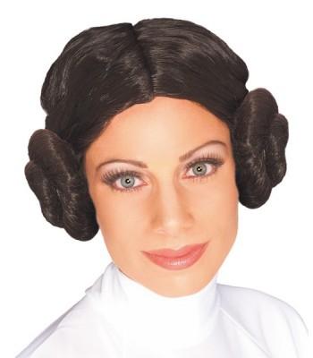 Perruque princesse Leia femme