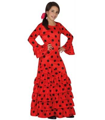 Déguisement danseuse espagnole rouge fille
