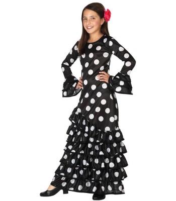 Déguisement danseuse flamenco noire fille