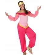 Déguisement danseuse orientale rose pour fille de 3 à 12 ans