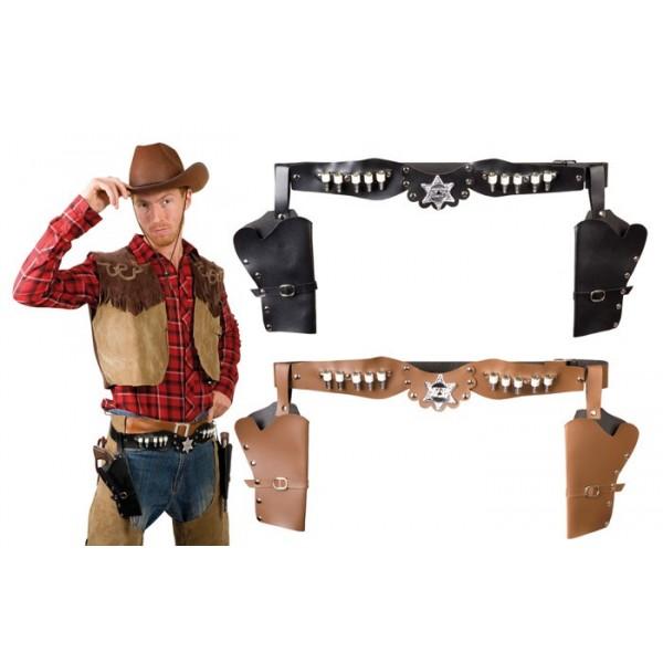 ceinture cowboy ceinture holster marron de cowboy boucle buffle. Black Bedroom Furniture Sets. Home Design Ideas
