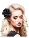 Barrette rose noire à paillettes à placer dans vos cheveux