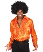 Chemise disco orange pour homme, existe aussi en taille XL et XXL