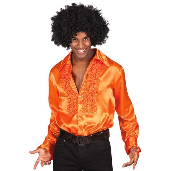 chemise disco orange homme la magie du d guisement disco et ann es 70 et 80. Black Bedroom Furniture Sets. Home Design Ideas