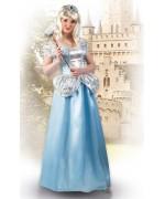 Déguisement de princesse pour femme avec robe et tiare - personnage de dessin animé et de conte de fées