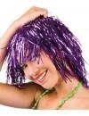 Perruque disco métallique violet