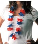 Collier hawaien tricolore France - FA117A