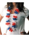 Collier hawaien tricolore France