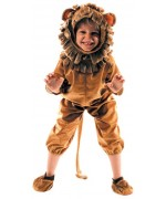 déguisement de lion pour enfant de 3 à 8 ans avec combinaison, cagoule et chaussons - costume animal
