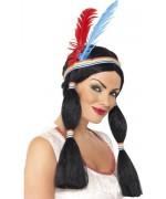 Incarnez une indienne digne de la célèbre Pochaontas grâce à cette perruque de princesse indienne