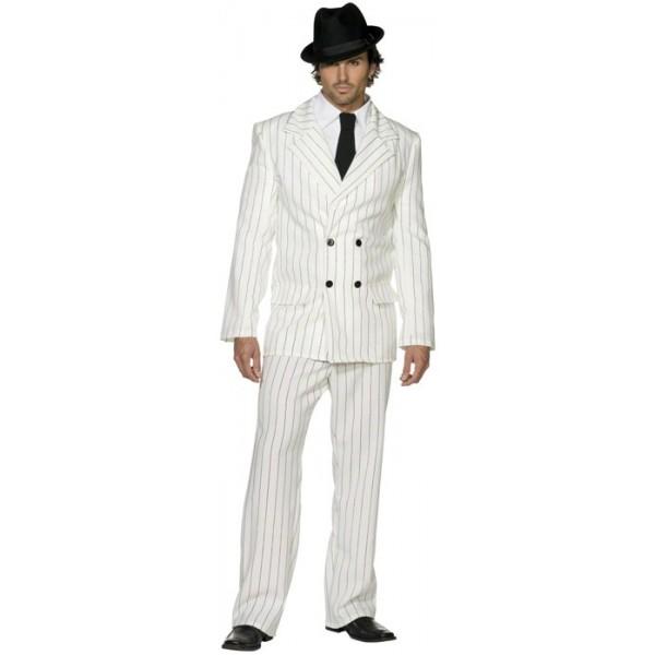Déguisement de gangster blanc pour homme idéal pour une soirée années 20, années  30