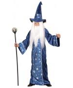 déguisement de magicien pour enfant de 4 à 13 ans, robe de sorcier et chapeau