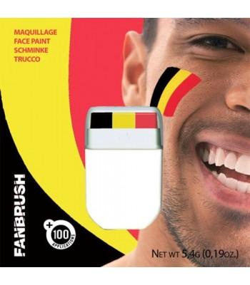 Maquillage Belgique noir rouge jaune