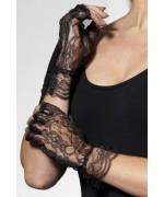 Mitaines noires en dentelle pour femme, idéales pour vos costumes gothiques ou d'halloween