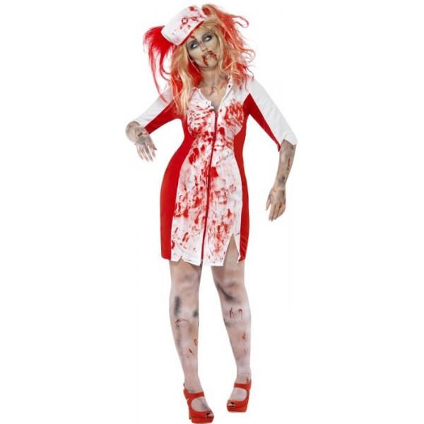 d guisement infirmi re zombie grande taille la magie du deguisement achat costume halloween xxl. Black Bedroom Furniture Sets. Home Design Ideas