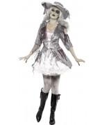 Déguisement de pirate zombie pour femme avec robe et chapeau - costume halloween