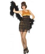 Déguisement charleston or femme avec robe et bandeau - soirée années 30