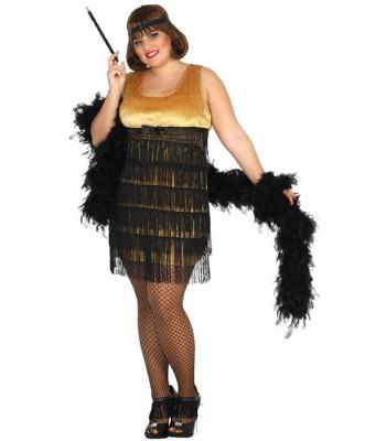 Magie Déguisement Du Taille Grande Or La Femme Charleston nq7wqZYH1p