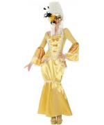 déguisement de marquise couleur or pour femme, costume carnaval marquis marquises