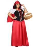 Déguisement chaperon rouge avec robe et cape disponible en taille XXL pour femme