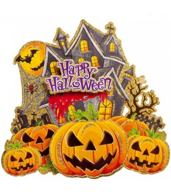 Poster citrouille happy halloween