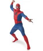 deguisement spiderman pour adulte avec combinaison et cagoule - costume de super héros