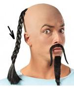 Longue tresse de cheveux noir pour adulte