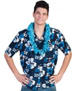 Chemise hawaïenne pour homme de couleur bleu hibiscus