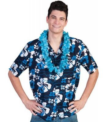 Chemise hawaïenne bleu homme