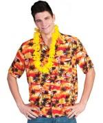 Chemise hawaienne orange homme idéale pour vos soirées tropicales et Hawaïennes