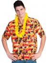 Chemise hawaienne orange homme