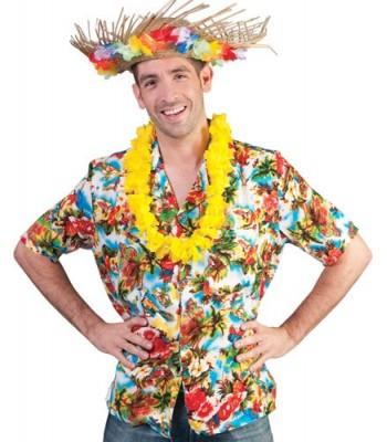 Chemise hawaienne fleurs multicolores homme